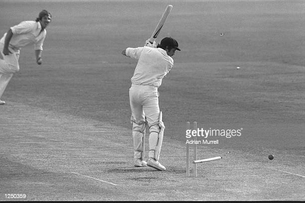 England v Australia 1st Test at Brisbane Ian Botham of England bowls Rodney Hogg of Australia Mandatory Credit Adrian Murrell/Allsport UK