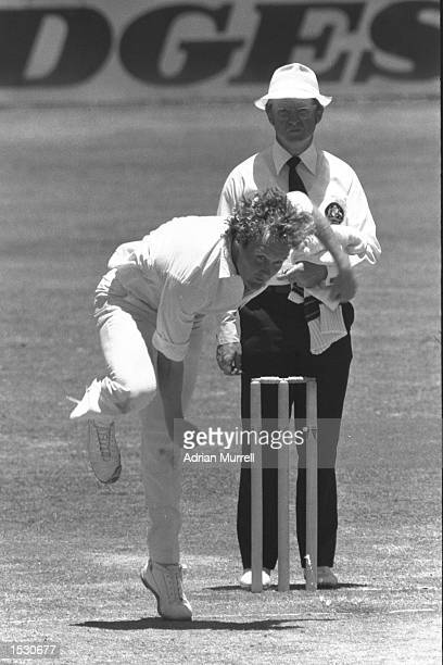 Rodney Hogg Australia's fast bowler in action against England during the Ashes series in Brisbane Australia Manadatory Credit Adrian Murrell/Allsport