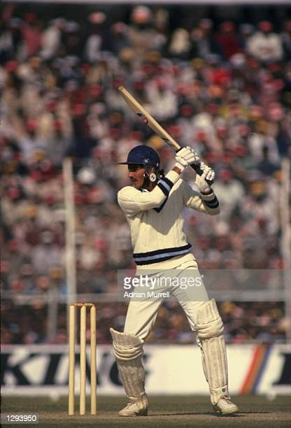 Ravi Shastri of India in action during the Third Test match against England at Feroz Shah Kotla in Delhi India The match ended in a draw Mandatory...