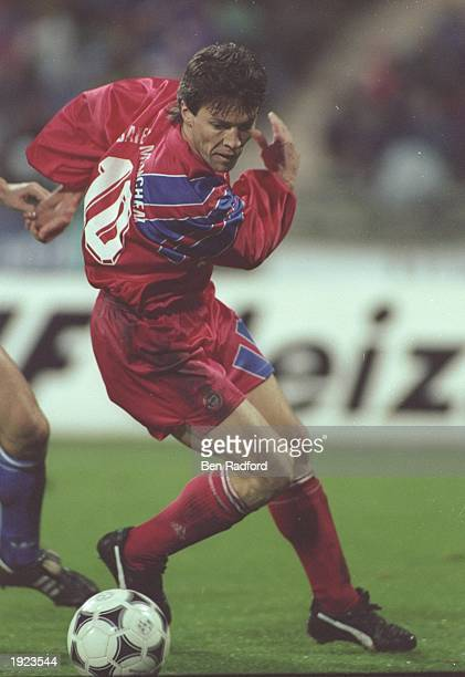 Lothar Matthaus of Bayern Munich in action during a match Mandatory Credit Ben Radford/Allsport