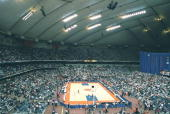 General view of a game between the Boston College Eagles and the Syracuse Orangemen at the Carrier Dome in Syracuse New York Mandatory Credit Jed...