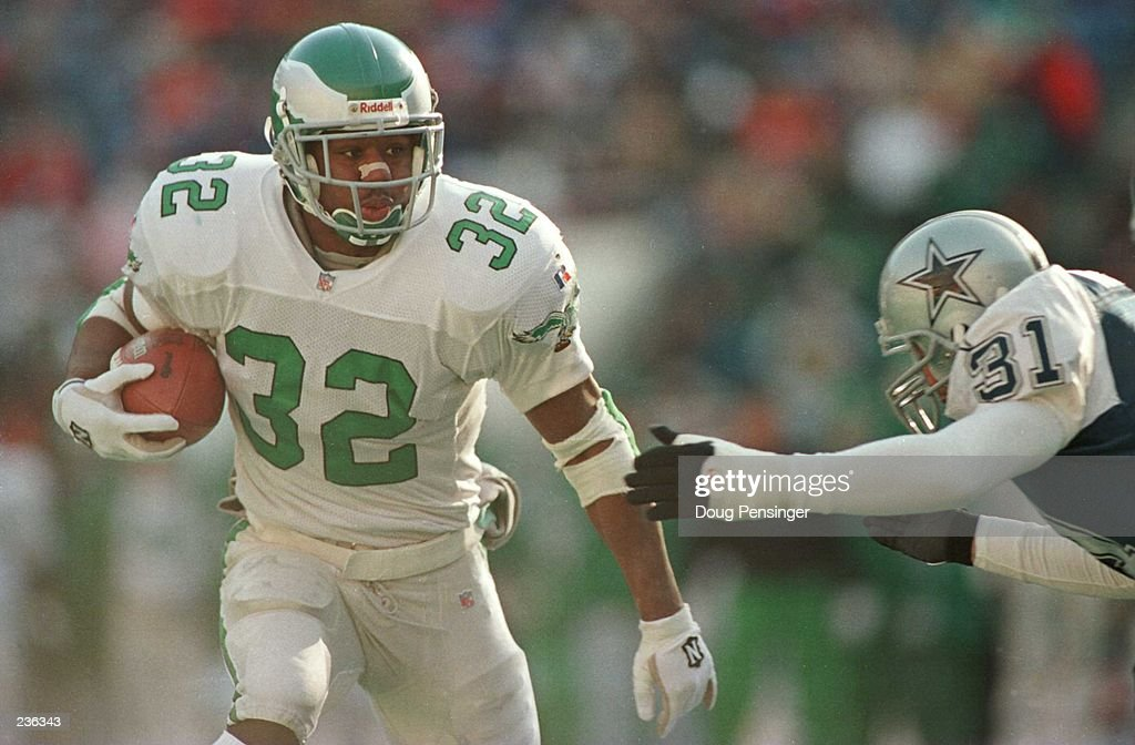 f8c350d2b75 ... Jersey Green 46 Large XL PhiladelphiaEagles PHILADELPHIA EAGLES RUNNING  BACK RICKY WATTERS 32 ELUDES DALLAS COWBOYS SAFETY BROCK MARION 31 ...