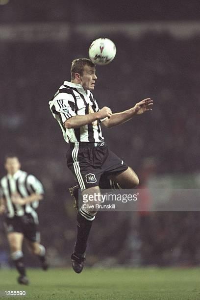 Alan Shearer in action for Newcastle in the Premier League match against Blackburn at Ewood Park Blackburn Blackburn won 10 Mandatory Credit Clive...