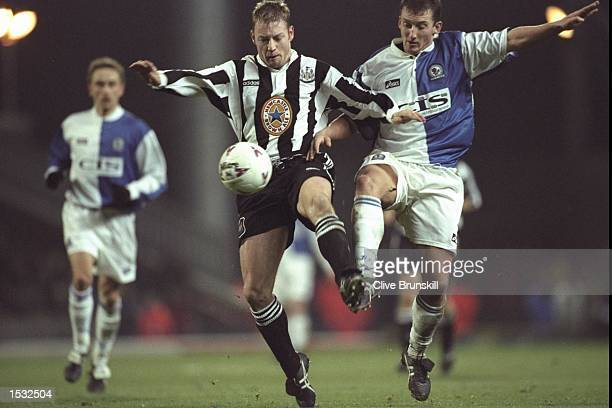 David Batty of Newcastle is challenged by Billy McKinlay of Blackburn in the Premier League match at Ewood Park Blackburn Blackburn won 10 Mandatory...