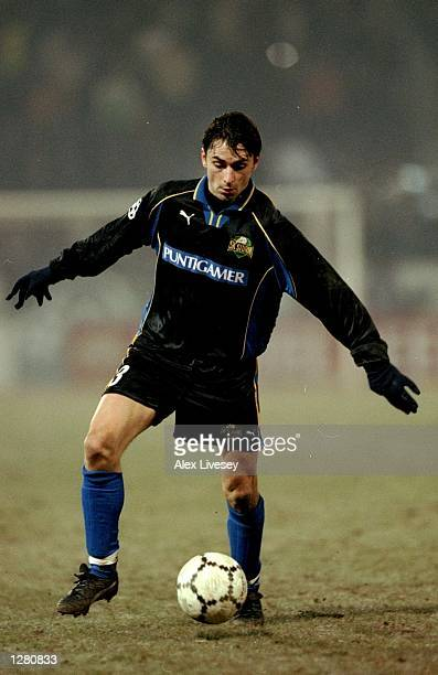 Gunther Nevkirchner of Sturm Graz gives chase during the UEFA Champions League match against Inter Milan at the Arnold Schwarzenegger Stadion in Graz...