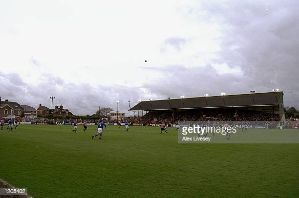 A general view of St James Park home of Exeter City during the FA Cup Third Round match against Everton Mandatory Credit Alex Livesey /Allsport