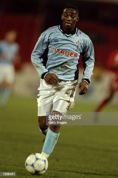 Benni McCarthy of Celta Vigo in action during the UEFA Cup Third Round Second Leg match against Benfica played at the Stadium of Light in Benfica...