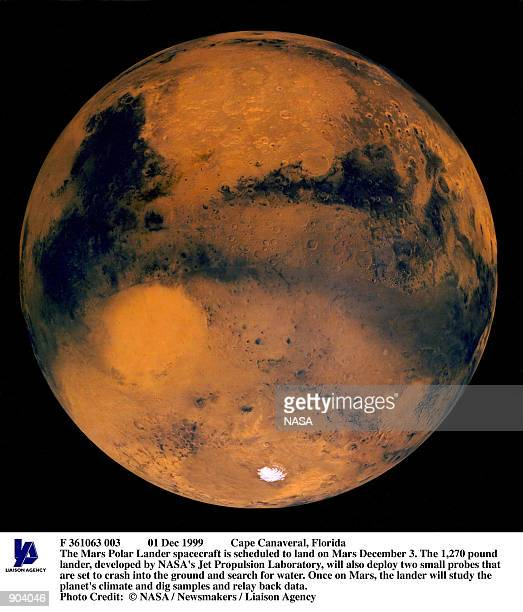 Dec 1999 Cape Canaveral Florida The Mars Polar Lander spacecraft is scheduled to land on Mars December 3 The 1270 pound lander developed by NASA's...