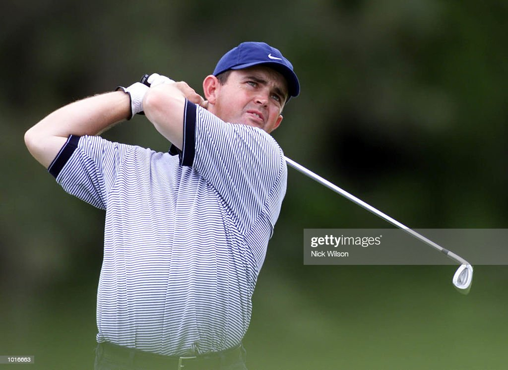 Greg Chalmers of Australia plays his second shot on the par four 9th during the first round of the ANZ players Championships at Royal Queensland G.C. Brisbane ,Australia. Mandatory Credit: Nick Wilson/ALLSPORT