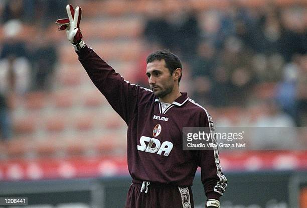 Luca Bucci of Torino in action during the Italian Serie A match against AC Milan played at the San Siro in Milan Italy The game finished in a 20 win...