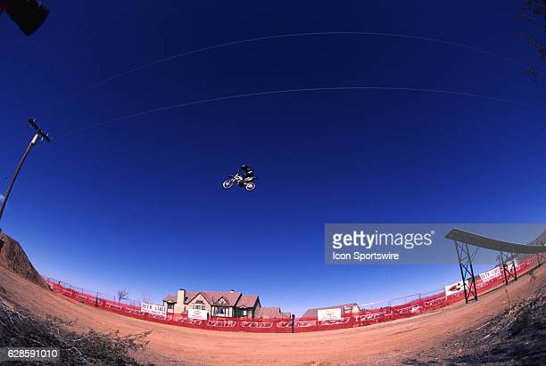 Seth Enslow attempts a record setting motorcylce jump in Apple Valley California Enslow crashed on the attempt and was critically injured