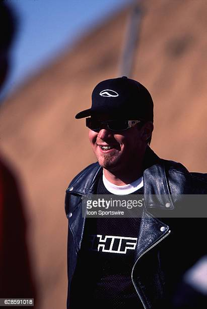 Seth Enslow before attempting a record setting motorcycle jump in Apple Valley California Enslow crashed on the attempt and was critically injured