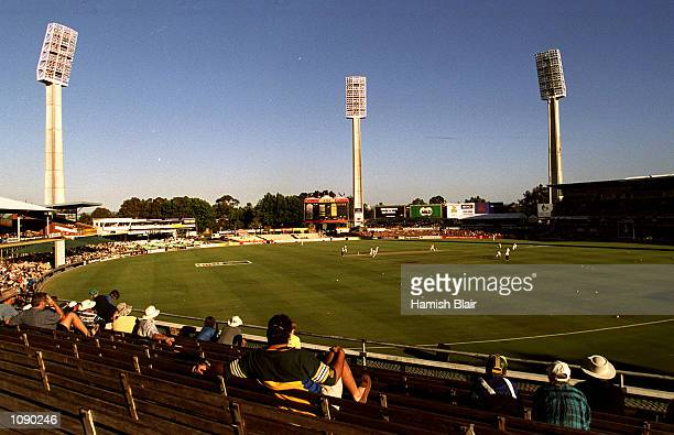 A general view of the first days play of the Second Test match between Australia and West Indies at the WACA Cricket Ground Perth Australia Mandatory...