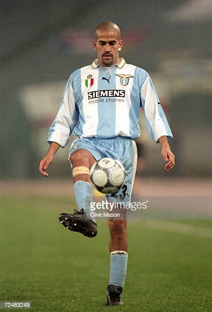 Juan Veron of Lazio in action during the UEFA Champions League match against Leeds United at the Stadio Olympico in Rome Italy Leeds United won the...