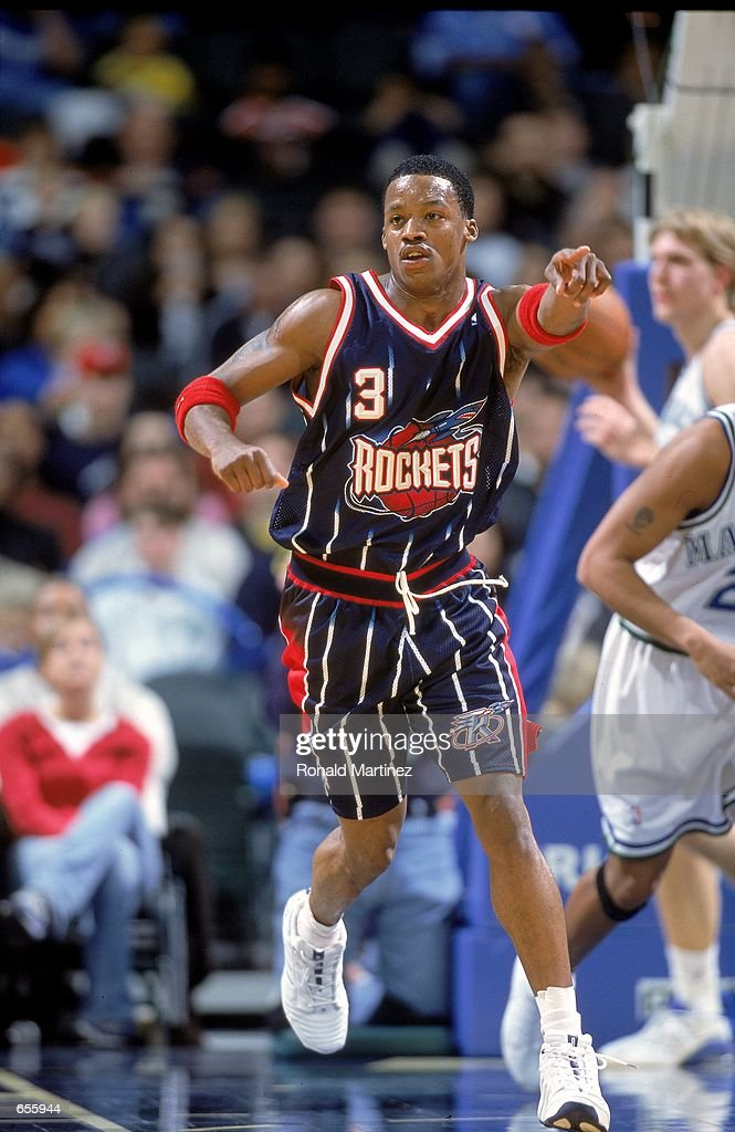 e3934a7d383f ... Steve Francis 3 of the Houston Rockets points down the court as he runs  during ...