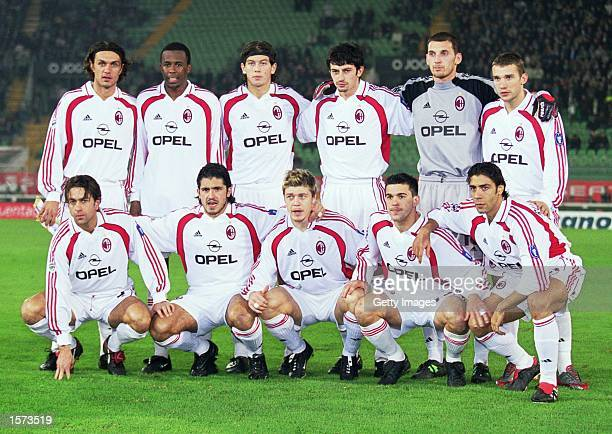 AC Milan team group before the UEFA Cup 3rd round 2nd leg match against Sporting Lisbon at the Jose Alvalade Stadium in Lisbon Portugal The game...