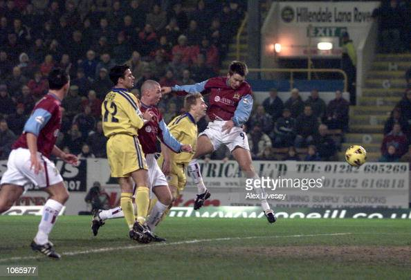 Gareth Taylor of Burnley scores during the Nationwide First Division game between Burnley and Stockport County at Turf Moor Burnley DIGITAL IMAGE...