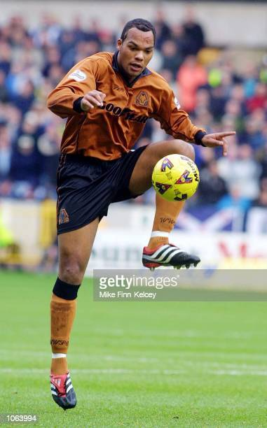 Joleon Lescott of Wolverhampton Wanderers in action against West Bromwich Albion in the Nationwide League Division One match at Molineux Stadium...