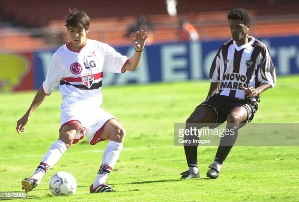 Kaka of Sao Paulo in action during the Brazilian National Championship match between Sao Paulo and Athletico Minero played at Morumbi's Stadium Sao...