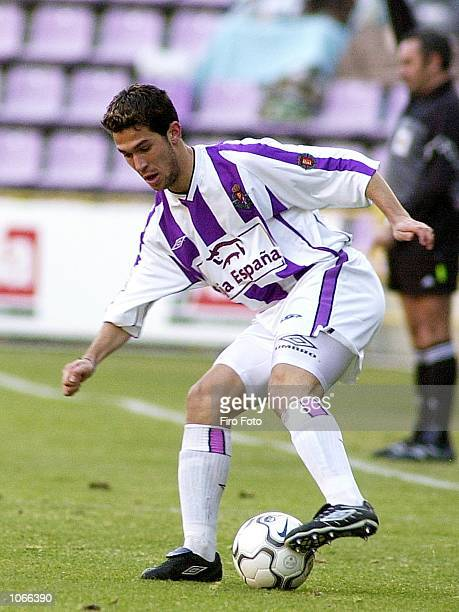 Luis Garcia of Valladolid in action during the Primera Liga match between Valladolid and Tenerife played at the Jose Zorrilla Stadium Valladolid...