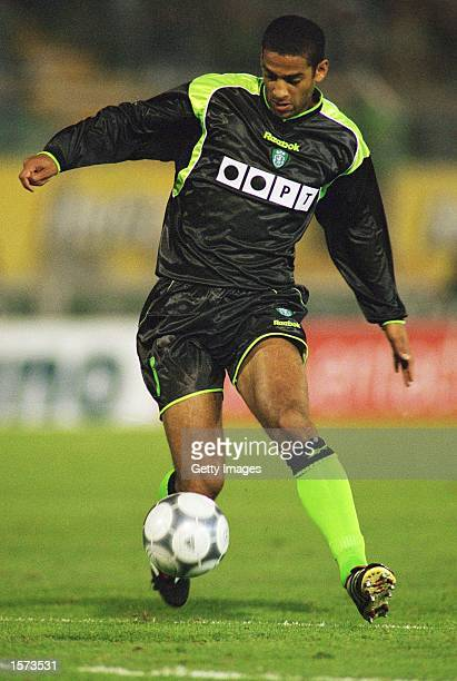 Phil Babb of Sporting Lisbon on the ball during the UEFA Cup 3rd round 2nd leg match against AC Milan at the Jose Alvalade Stadium in Lisbon Portugal...