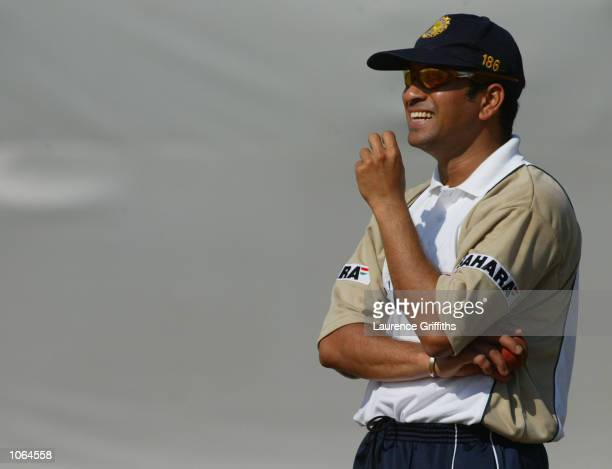 Sachin Tendulkar of India during net practice ahead of the Second Test match against England at the Sardar Patel Gujarat Stadium in Ahmedabad India...