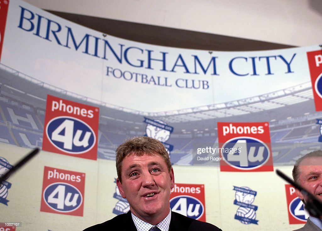 12 Dec 2001 Steve Bruce, the new manager of Birmingham City pictured during the press conference at St. Andrews, Birmingham. DIGITAL IMAGE Mandatory Credit: Dave Rogers/ALLSPORT