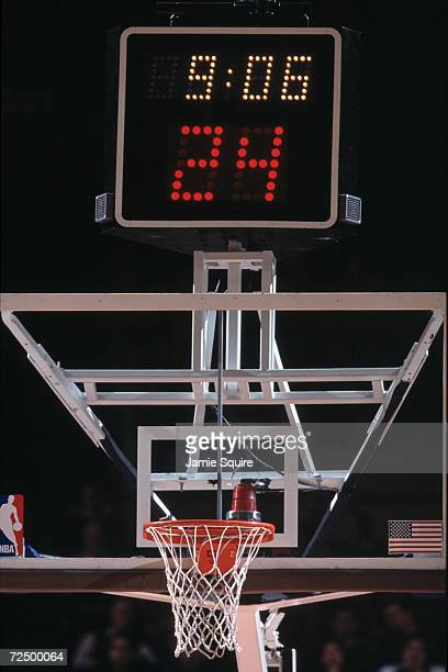 This is a close up of a shot clock The picture was taken during the NBA game between the New York Knicks and the Detroit Pistons at Madison Square...