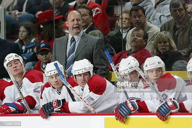 Head coach Claude Julien of the Montreal Canadiens during the Canadiens 11 tie to the Carolina Hurricnaes at the RBC Center in Raleigh NC