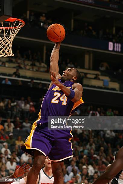 Dec 29 2006 Charlotte NC USA Los Angeles Lakers KOBE BRYANT Against the Charlotte Bobcats on Dec 29 at the Charlotte Bobcats Arena in Charlotte NC...