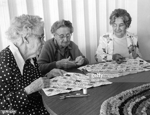 OCT 15 1975 OCT 22 1975 Dec 3 1975 2000Plus Pieces will go into Quilt Pillow Shams Mrs Carrie Davis left Mrs Mabel de Koevend and Mrs Patricia...