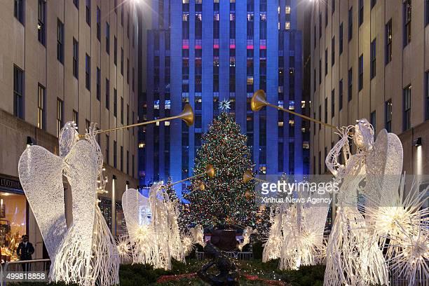 NEW YORK Dec 3 2015 Photo taken on Dec 2 shows the Norway Spruce during the 83rd Christmas Tree Lighting Ceremony in Rockefeller Center in New York...