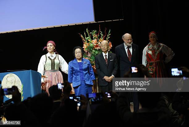 STOCKHOLM Dec 7 2015 China's Tu Youyou who won 2015 Nobel Prize in Physiology or Medicine attends a lecture in Karolinska Institutet Stockholm...
