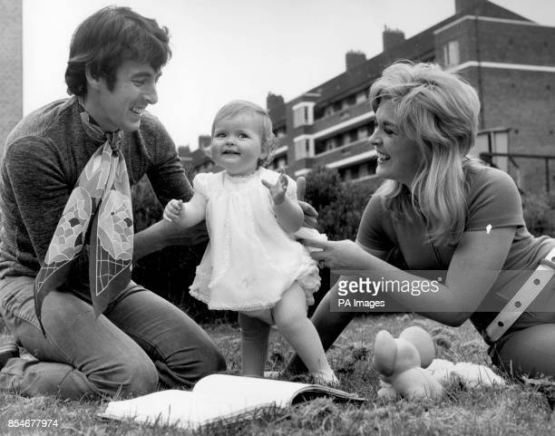 Dec Cluskey of the Bachelors with his wife Sandra Williams and daughter Victoria who celebrates her first birthday tomorrow