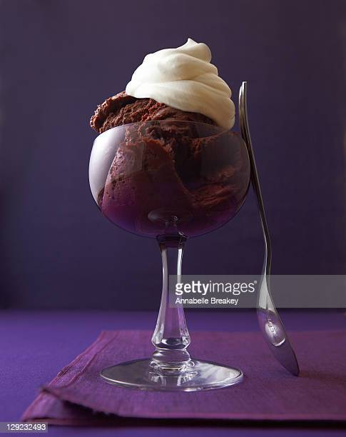 DEcadent chocolate mousse with whipped cream