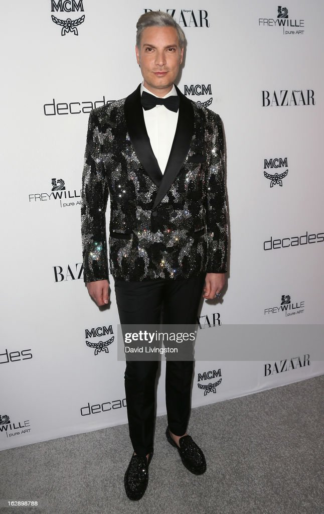 Decades co-owner Cameron Silver attends the Harper's BAZAAR celebration of Cameron Silver and Christos Garkinos of Decades new Bravo series 'Dukes of Melrose' at The Terrace at Sunset Tower on February 28, 2013 in West Hollywood, California.