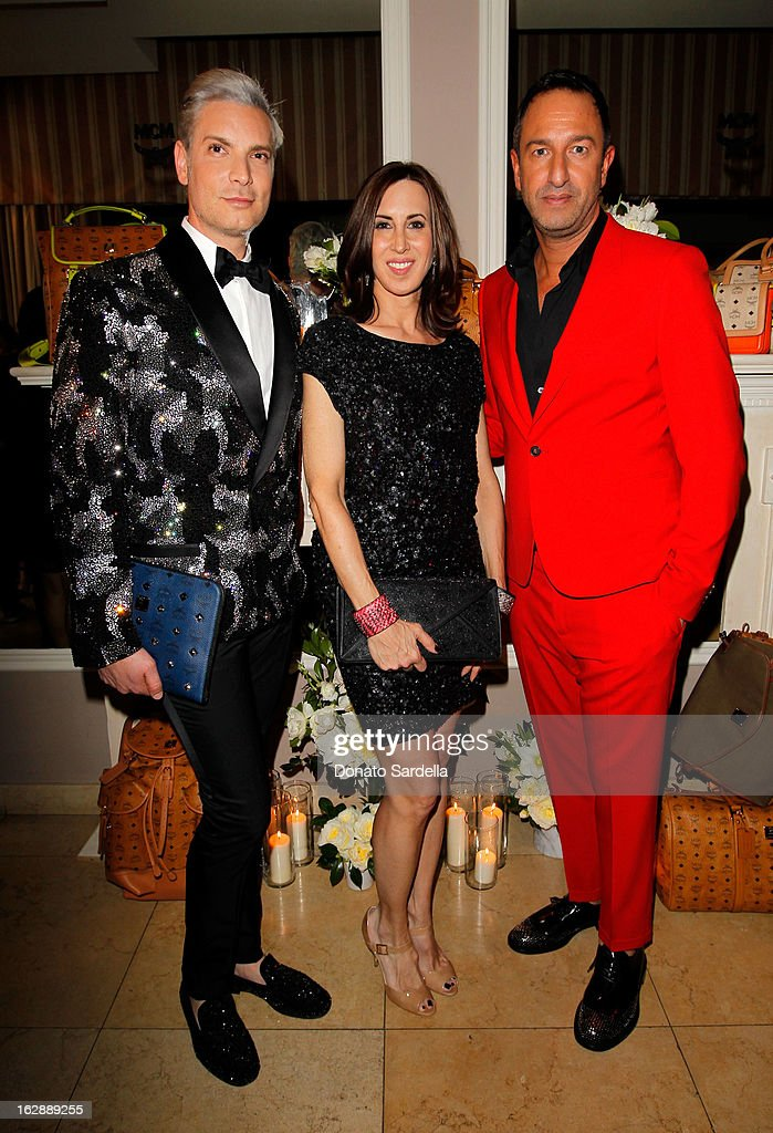 Decades Founder Cameron Silver, MCM Director Julie Browne and Decades co-owner Christos Garkinos attend the Dukes Of Melrose launch hosted by Decades, Harper's BAZAAR, and MCM on February 28, 2013 in Los Angeles, California.