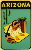 A decal for Arizona from 1959 in USA