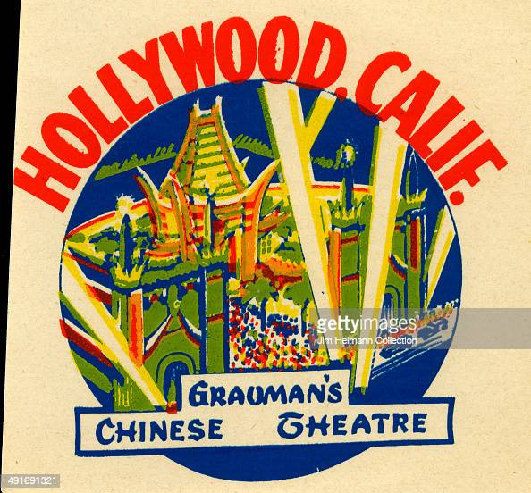 A decal for Grauman's Chinese Theatre in Hollywood California from 1941 in USA