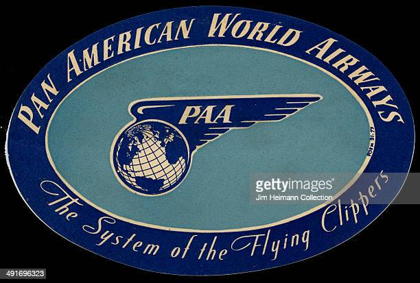 A decal for Pan American World Airlines reads 'The System of the Flying Clippers' from 1947 in USA