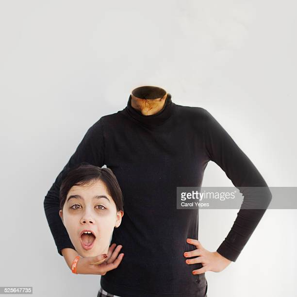 Decapitated woman