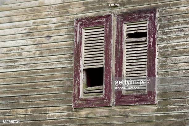 Decayed Shutter in an Abandoned Farmhouse