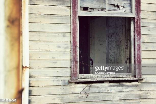 Decayed Window in an Abandoned Farmhouse