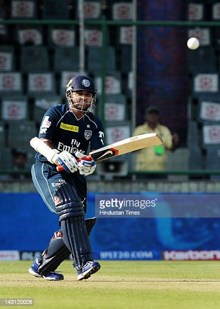 Deccan Chargers batsman Parthiv Patel in action during a match between Deccan Chargers and Delhi Daredevils at Ferozshah Kotla Stadium on April 19...