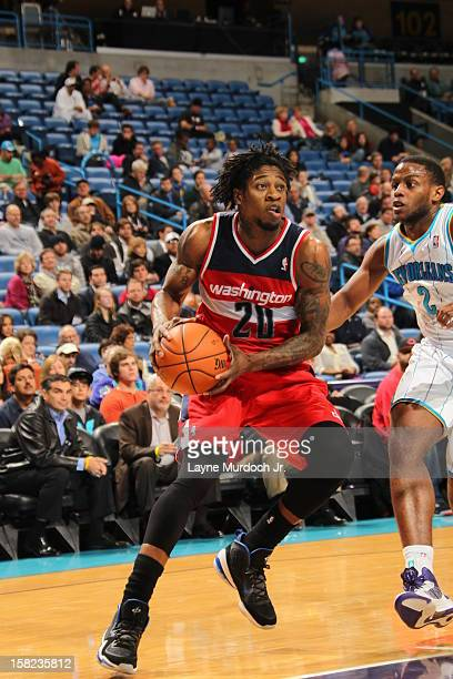 Cartier Martin of the Washington Wizards goes up for the shot against the New Orleans Hornets on December 11 2012 at the New Orleans Arena in New...