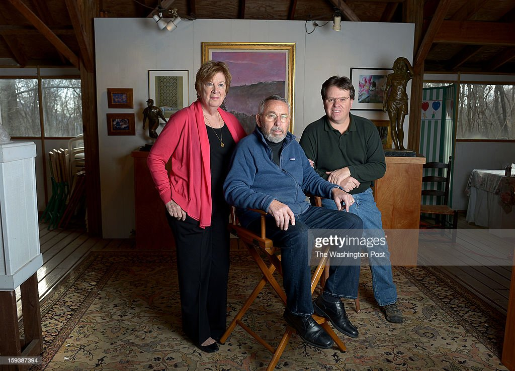 Tony Mendez (the CIA agent from Argo) and his wife, Jonna, and son Toby pose in their art gallery next to their home. Tony is a painter, Jonna is a photographer and Toby is a world class sculptor on December 12, 2012 in Knoxville, MD
