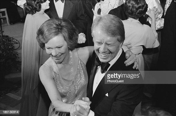 December 13 1978 President Jimmy Carter and First Lady Rosalynn Carter dance at a White House Congressional Ball Washington DC]