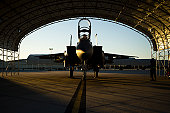 December 14, 2010 - A U.S. Air Force F-15E Strike Eagle aircraft waits to take part in a training mission at Seymour Johnson Air Force Base, North Carolina.