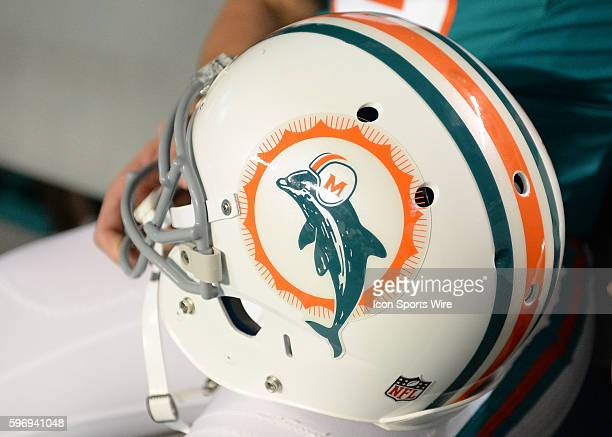 December 14 2015 Miami Dolphins 50 anniversary logo prior to a game between the Miami Dolphins and the New York Giants at Sun Life Stadium in Miami...