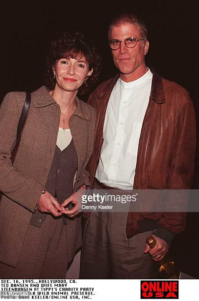 December 16 Hollywood Ca Ted Dansen And Wife Mary Steenburgen At A Charity Party To Benifit The Shambala Wild Animal Preserve